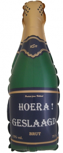 Champagne fles Hoera geslaagd