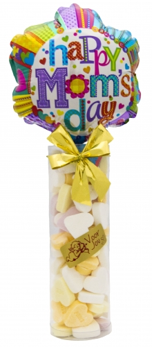 Balloon & Candy koker bloem happy mother\\\'s day