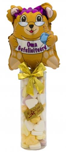Balloon & candy oma gefeliciteerd