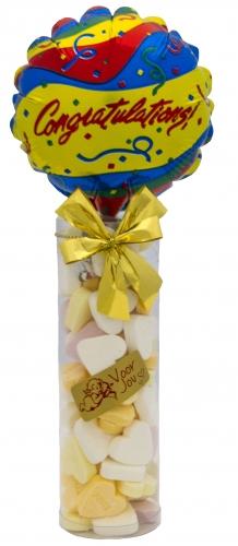 Balloon & candy koker congratulations confetti