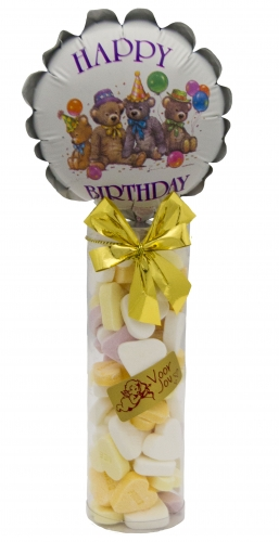 Balloon & Candy koker happy birthday beren