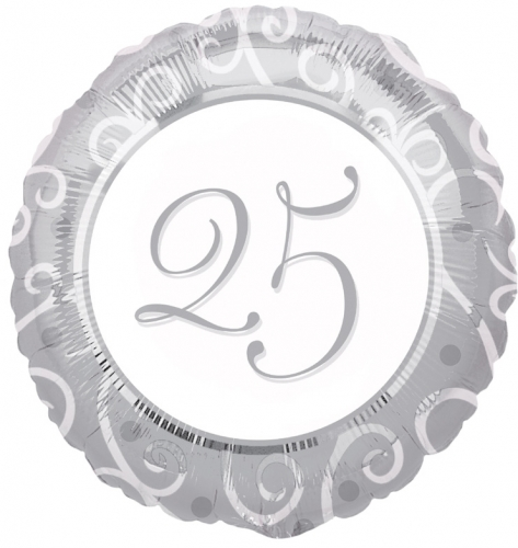 25th anniversary silver white