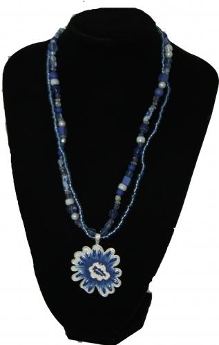 Ketting blauw Amulet
