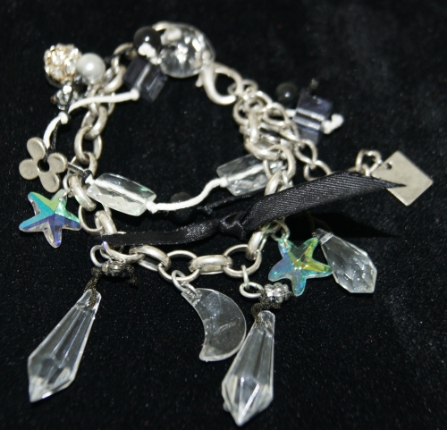 Armband antracite bedels