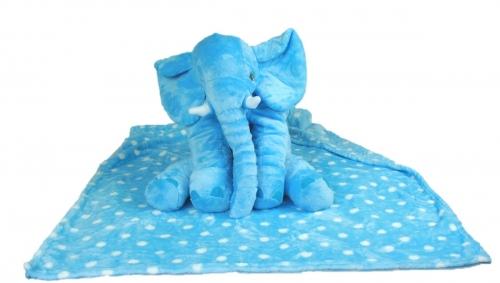Olifant met deken Blauw