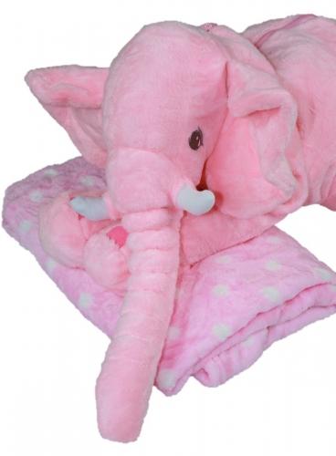 Olifant met deken Roze