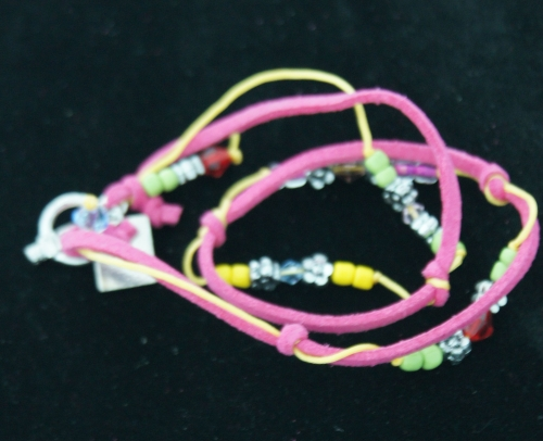 Armband leer multicoulor