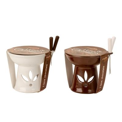 Chocolade fondue set met 2 Splitsen