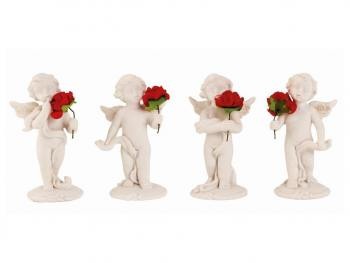 Engel staand met roos