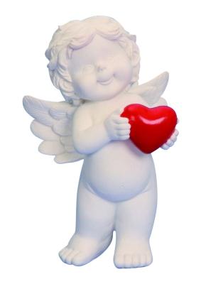 Baby engel met rood hart