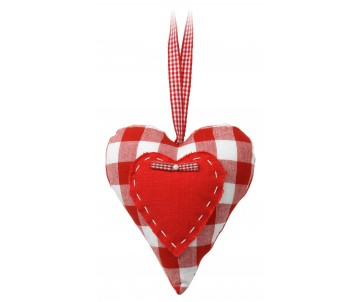 Stuffed heart rode ruit met  strik