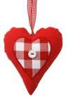 Stuffed heart rood met witte knoop