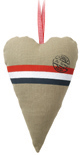 Stuffed heart rode streep 30cm