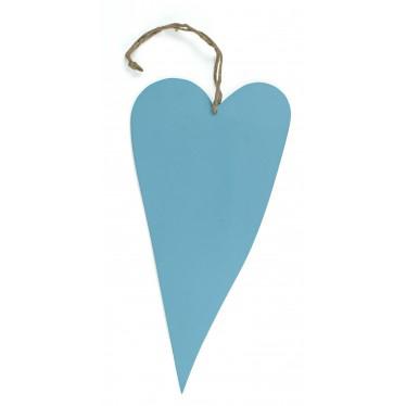 Blauw houten hart groot