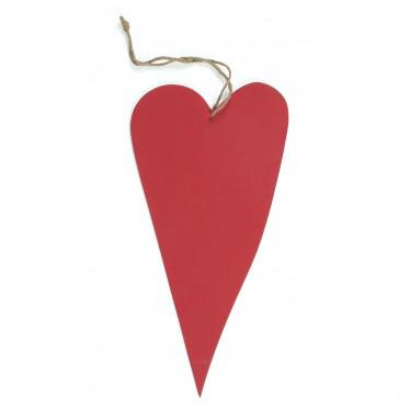 Rood houten hart klein