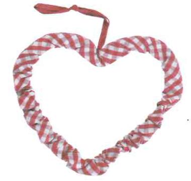 Fabric hart rood