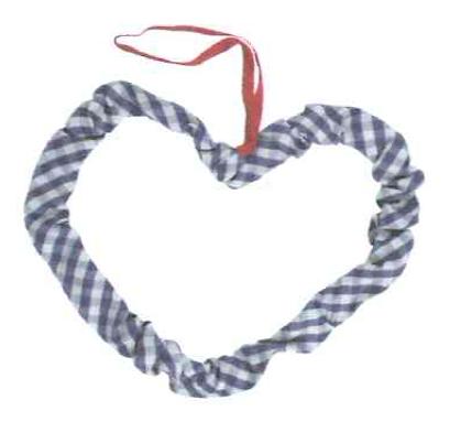 Fabric hart blauw