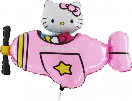 Hello Kitty airplane pink