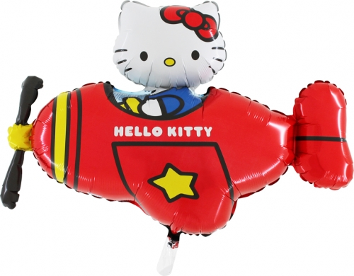 Hello Kitty airplane red