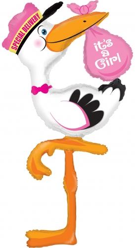 MULTI Ballon Ooievaar GIRL