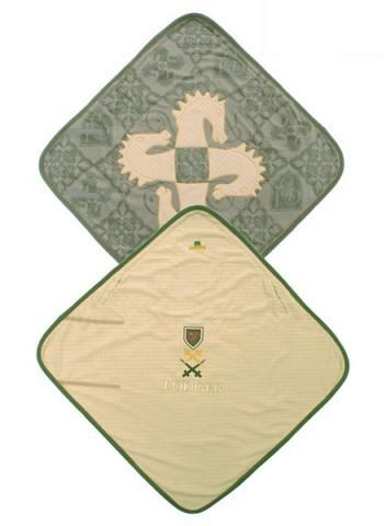 Deken Lodger groen/grijs