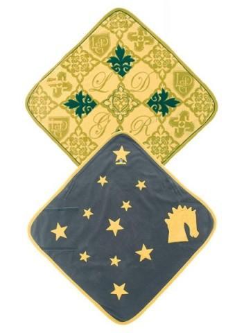 Deken Lodger geel/blauw