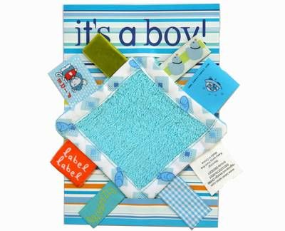 Kaart Label Label Its a boy blauw