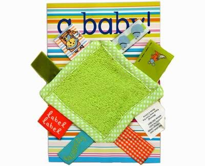 Kaart Label Label A Baby lime groen