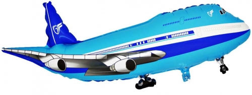 Vliegtuig blauw SH