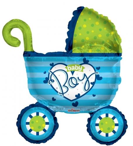 Baby Boy Stroller Shape SH