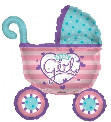 Baby Girl Stroller Shape SH