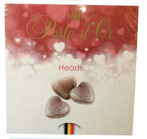 Perle d or Chocolade Hearts