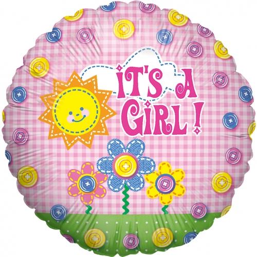 Baby girl button girl folie ballon