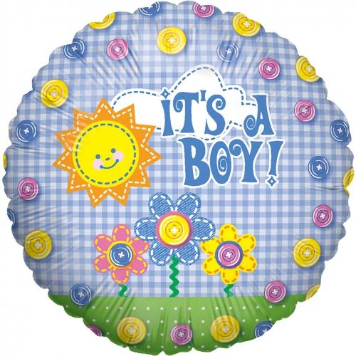 Baby boy button boy folie ballon