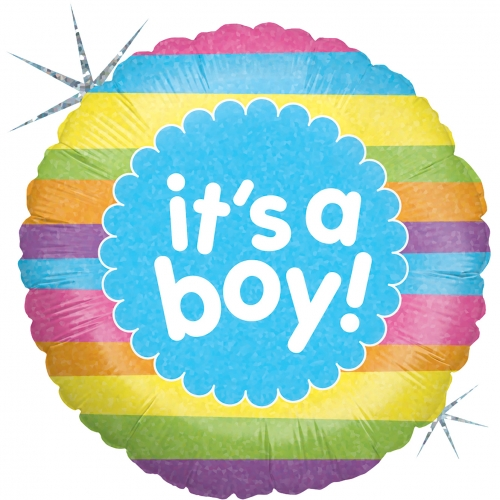 It s a Boy Rainbow Stripes SL
