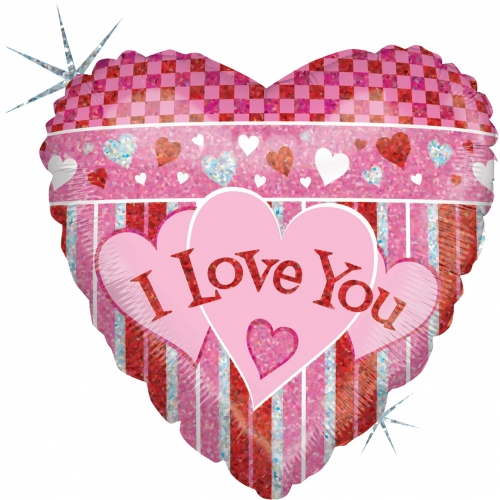 Iove you Stripes Holograpic SL