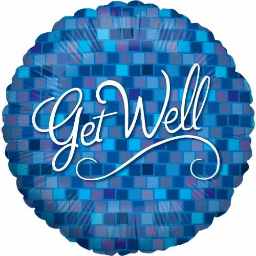 Get Well Blue Squares