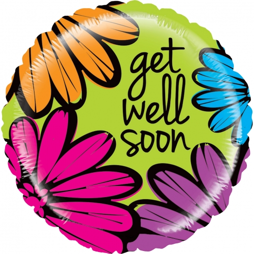 Get well bold flowers SL