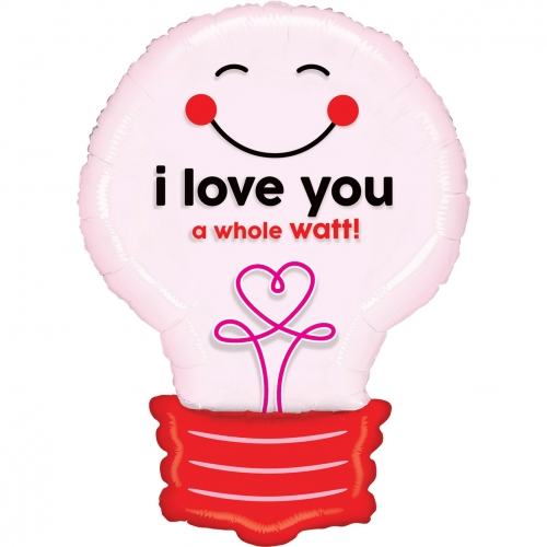 I love you lightbulb