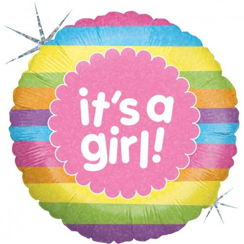Baby Girl Rainbow Stripes