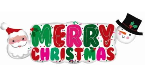 Merry Christmas Santa & Snowman Sh