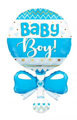 Baby Rattle Blue Shape JU