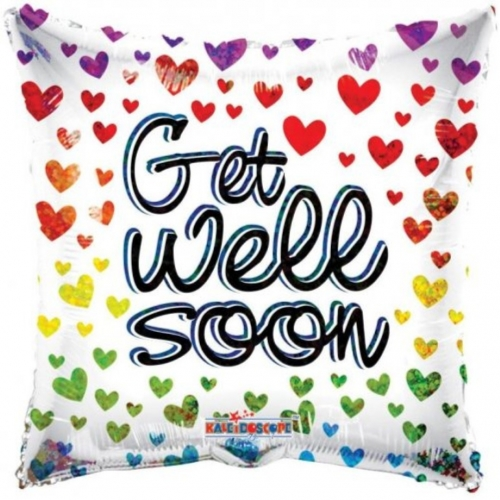 Get Well Hearts Holographic SL