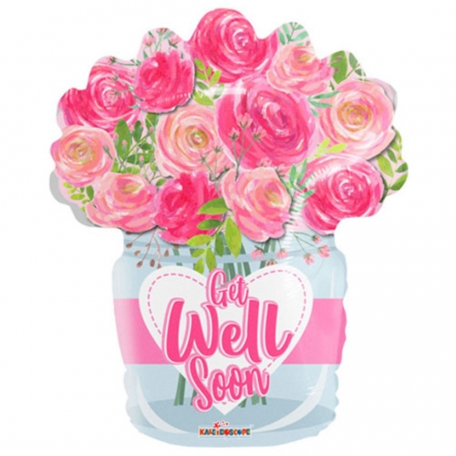 Get Well Roses Flower Pot SL
