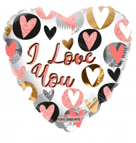 I Love you glitter