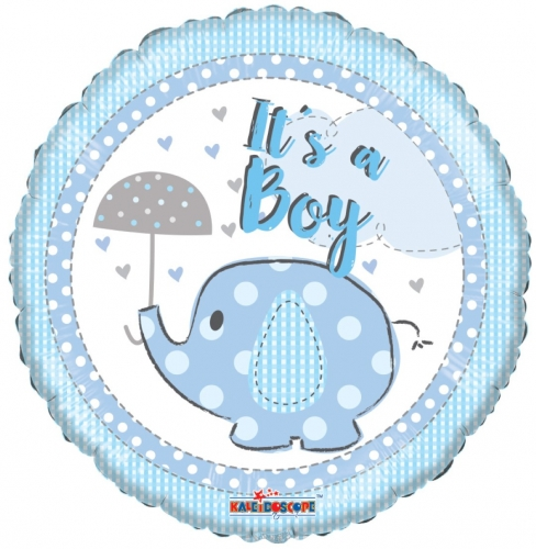 Olifant met paraplu it s a boy