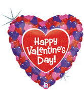 Happy Valentines day hearts ML