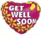 Get well soon yellow flowers MC