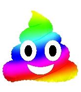 Emotocon rainbow poop