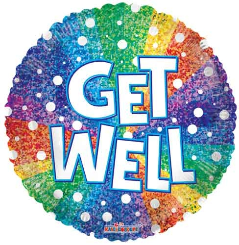 Get Well Rainbow Holographic ML